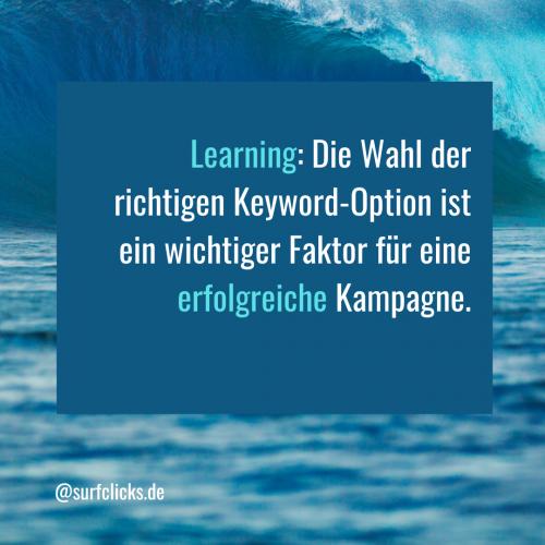 Keyword-Optionen bei Google Ads 6
