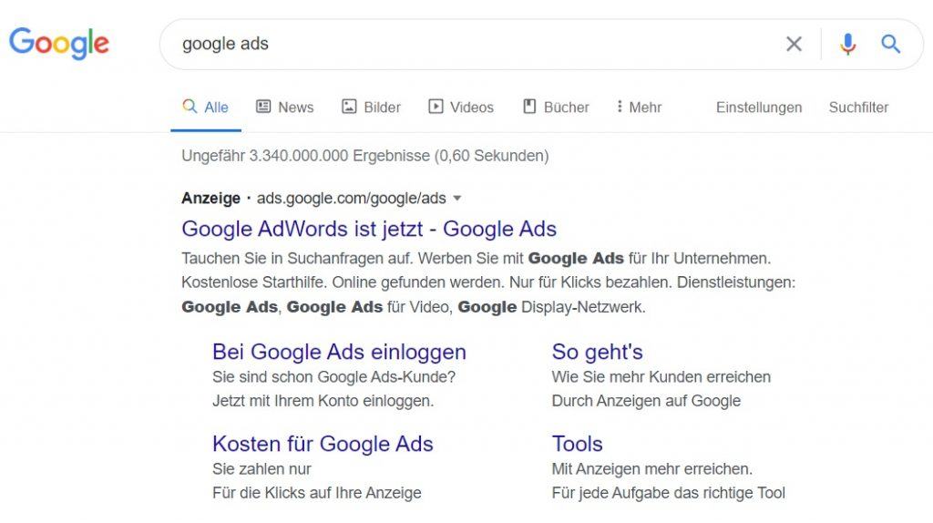 wie schalte ich google ads