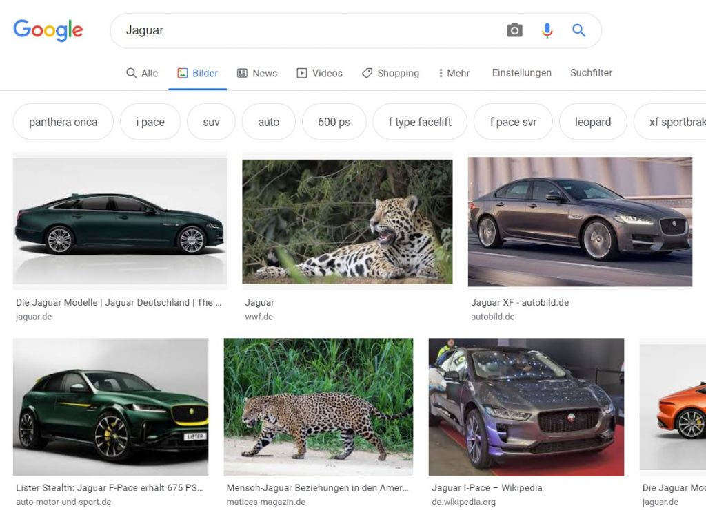 Google Ads passende Keywords