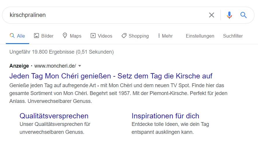 Google Ads - Suchergebnis