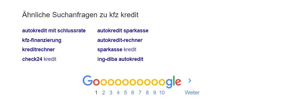 Keyword Recherche Tools - Keywords finden